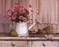 "Pink Flowers and Pears by T.C. Chiu - 28"" x 22"""