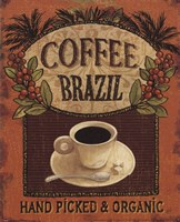 "Coffee Blend Label IV by Daphne Brissonnet - 8"" x 10"""