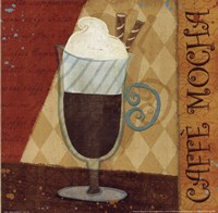 "Jazzy Coffee II by Veronique Charron - 10"" x 10"""