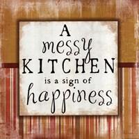 Messy Kitchen Framed Print