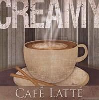Creamy Cafe Latte Framed Print