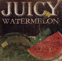 Juicy Watermelon Framed Print