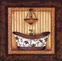 Copper Paisley Bath I Fine Art Print