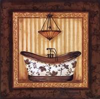 Copper Paisley Bath I Fine Art Print