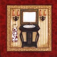 Red Demask Bath II Fine Art Print
