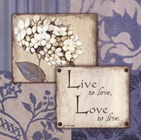 "Live Love by Jo Moulton - 12"" x 12"""