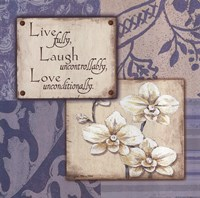 Live Laugh Love Uncontrollably Fine Art Print