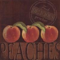Delicious Peach Framed Print