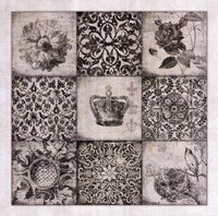 "Black And White Nine Patch by Stephanie Marrott - 27"" x 27"""
