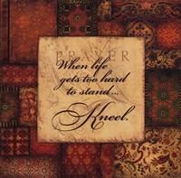 Kneel Framed Print