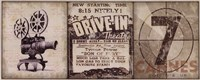 Drive-In Framed Print