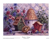"Garden Nesting by Barbara Mock - 8"" x 6"", FulcrumGallery.com brand"