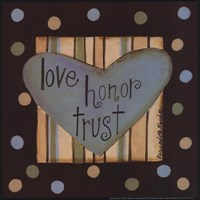 "Love, Honor & Trust by Bernadette Deming - 8"" x 8"", FulcrumGallery.com brand"