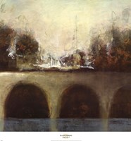 """Foggy Bridge II by Randy Hibberd - 27"""" x 29"""""""