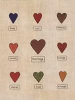 "Marriage Hearts by Emily Hardgrove - 9"" x 12"", FulcrumGallery.com brand"