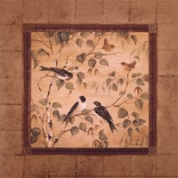 "Outdoor Aviary I - petite by Pamela Gladding - 6"" x 6"" - $9.49"