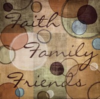 Faith Family Friends Framed Print
