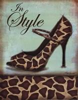 Giraffe Shoe Framed Print
