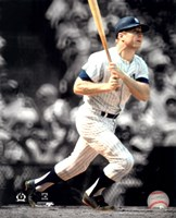 Mickey Mantle Spotlight Action Fine Art Print