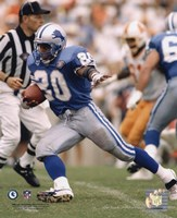 Barry Sanders - 1994 Action Fine Art Print