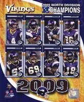 2009 Minnesota Vikings NFC West Divison Champions Composite Fine Art Print