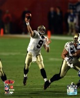 "Drew Brees Super Bowl XLIV Action (#14) - 8"" x 10"", FulcrumGallery.com brand"