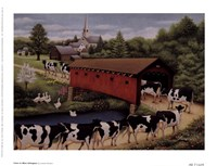 "Cows In West Arlington by Lowell Herrero - 8"" x 6"""