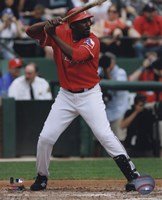 Vladimir Guerrero 2010 in action Fine Art Print