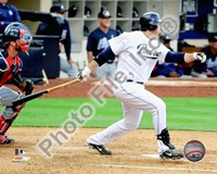 Adrian Gonzalez 2010 Action On The Field Fine Art Print