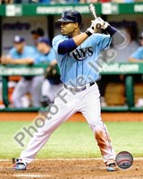 Carl Crawford 2010 Batting Action Fine Art Print