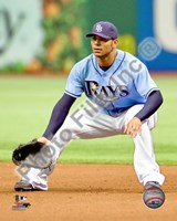 Carlos Pena 2010 Action On The Field Fine Art Print