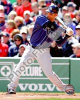 Carlos Pena 2010 Action Hitting Fine Art Print