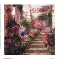 Rose Garden Steps Fine Art Print
