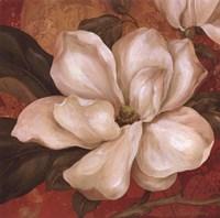 "Magnolia On Red II - mini by Pamela Gladding - 12"" x 12"" - $9.99"