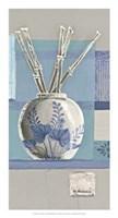 Blue Asian Collage I Fine Art Print