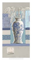 Blue Asian Collage II Fine Art Print