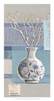 Blue Asian Collage IV Fine Art Print