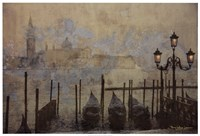 "Dawn & the Gondolas II by Terry Lawrence - 37"" x 25"""