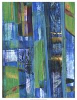 "Blue on Blue I by Ricki Mountain - 19"" x 25"""