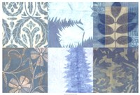 "Blue Textures I by Vision Studio - 37"" x 25"", FulcrumGallery.com brand"