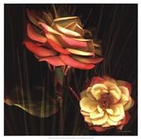 Red Floral Garden I Fine Art Print