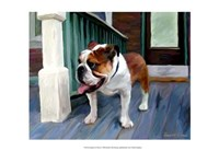English on Porch Fine Art Print