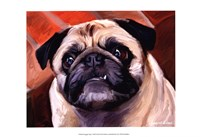 Snaggle Pug Fine Art Print