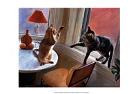 "Cats Fighting by Robert McClintock - 19"" x 13"""