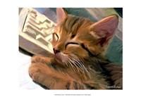 "Kitten on Keys by Robert McClintock - 19"" x 13"", FulcrumGallery.com brand"