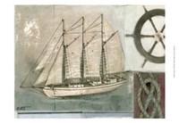 "Sailing I by Norman Wyatt Jr. - 19"" x 13"""