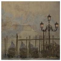 Mini Dawn and the Gondolas II Framed Print