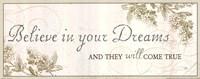 Believe in your dreams Fine Art Print