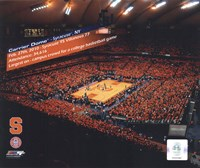 The Carrier Dome Record Breaking Crowd Syracuse Vs. Villanova with Overlay Fine Art Print