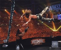 Shawn Michaels Wrestlemania 26 Action Framed Print